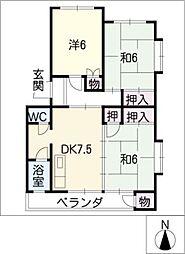 ロイヤル伊東[4階]の間取り