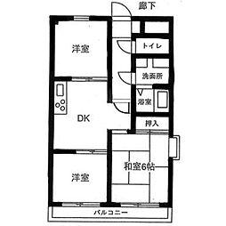 ライオンズマンション町田南[4階]の間取り