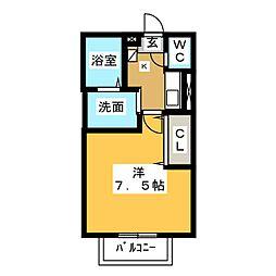 グレイ飯塚[2階]の間取り