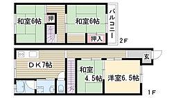 [一戸建] 愛知県名古屋市名東区亀の井2丁目 の賃貸【/】の間取り