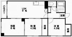 長浜マンション[303号室]の間取り