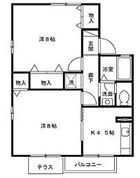 サンスクエア−C[1階]の間取り