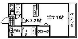 アンプルールユートピア[105号室]の間取り