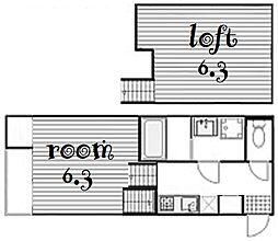 Loft9金山[1階]の間取り