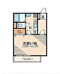 メゾン・ド・ズー[1階]の間取り