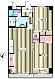 ラポールヤナセ[407号室]の間取り
