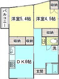 メゾン村田[2階号室]の間取り