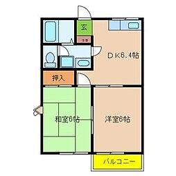 石林ハウス[2階]の間取り
