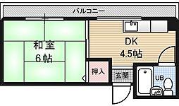 ミカドマンション[3階]の間取り