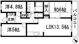 メゾンローズアベニュー[3階]の間取り