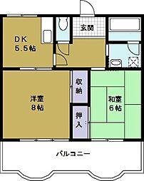 第2セイカイハイツ[4階]の間取り
