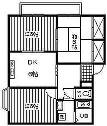 クレールマンション[101号室]の間取り