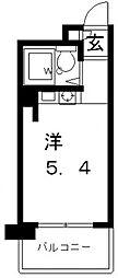 パークサイド上本町駅前[8階]の間取り