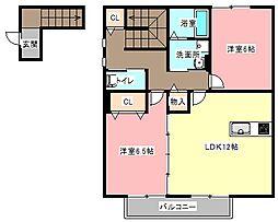 コート/ラデュレ[2階]の間取り