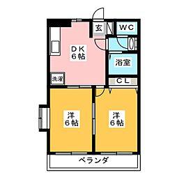 AVOIR−S[2階]の間取り