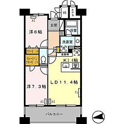ロイヤルパークス西新井[0503号室]の間取り
