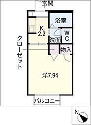 ピッセンリッツB棟[1階]の間取り