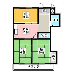 リアナ稲沢アパートメント[2階]の間取り