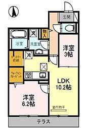 (仮称)D-room関目[2階]の間取り