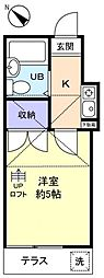 エクセレントF−II[1階]の間取り