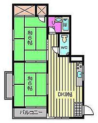 レインボーハイム[2階]の間取り