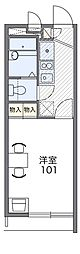 Osaka Metro四つ橋線 住之江公園駅 徒歩10分の賃貸マンション 2階1Kの間取り