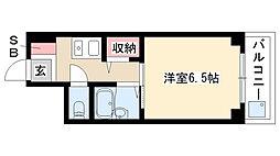 愛知県名古屋市瑞穂区弥富通4丁目の賃貸マンションの間取り
