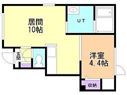 仮)東野幌町(18-3) 1階1LDKの間取り