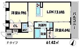 シャーメゾン桃李 4階2LDKの間取り
