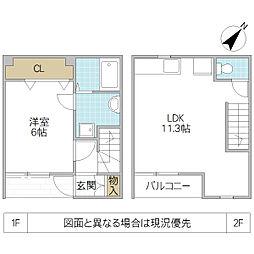 [テラスハウス] 茨城県つくばみらい市富士見ヶ丘 の賃貸【/】の間取り