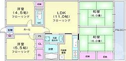 仙台市営南北線 北四番丁駅 徒歩17分の賃貸マンション 6階4LDKの間取り