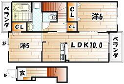 クレールIII[2階]の間取り