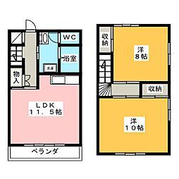 [テラスハウス] 愛知県岡崎市竜美東3丁目 の賃貸【愛知県 / 岡崎市】の間取り