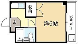 ロイヤルコーポタカノ[2階]の間取り