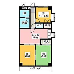 港が見えるマンション[5階]の間取り