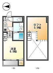 椿家[2階]の間取り