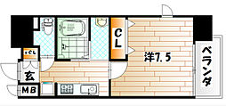 アクシオ小倉[13階]の間取り