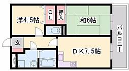 サンシャイン佐野[1階]の間取り