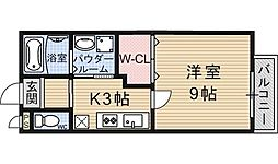 Heights TANAKA site1(ハイツタナカ)[201号室号室]の間取り
