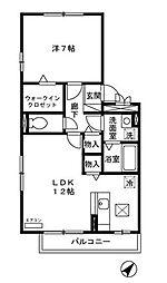 セジュールZEN 壱番館[107号室号室]の間取り