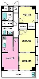 ラ ドマーニ六番館[3階]の間取り