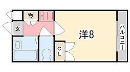 兵庫県姫路市飾西 の賃貸アパートの間取り
