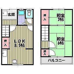 薮内アパート[1階]の間取り