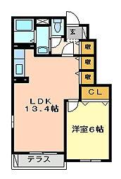 フォレストメゾンI[1階]の間取り