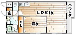 クラブハウス守恒[5階]の間取り