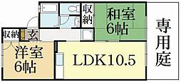 京都府京都市北区西賀茂鹿ノ下町の賃貸アパートの間取り
