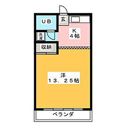 コーポ塚越[2階]の間取り