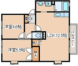 兵庫県神戸市長田区戸崎通3丁目の賃貸アパートの間取り
