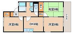 兵庫県神戸市西区竜が岡3丁目の賃貸アパートの間取り