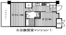 エステムプラザ神戸西Vミラージュ[4階]の間取り